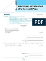 Add Maths SPM Forecast Papers