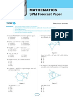 Mathematics SPM Forecast Papers