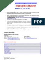 Health Inequalities Bulletin no. 27 June-July 2011