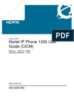 Nortel Ip Phone 1220 User Guide (Cicm) Nn10300-900_01.01_ipphone1220_ug