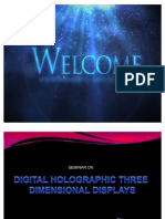 HOLOGRAPHIC 3D DISPLAY