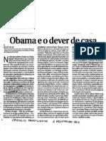 Obama e o dever de casa