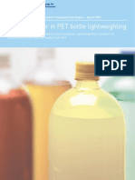 Effect of Label Panel Creep Pet Bottle