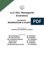 Regression Assignment - Report