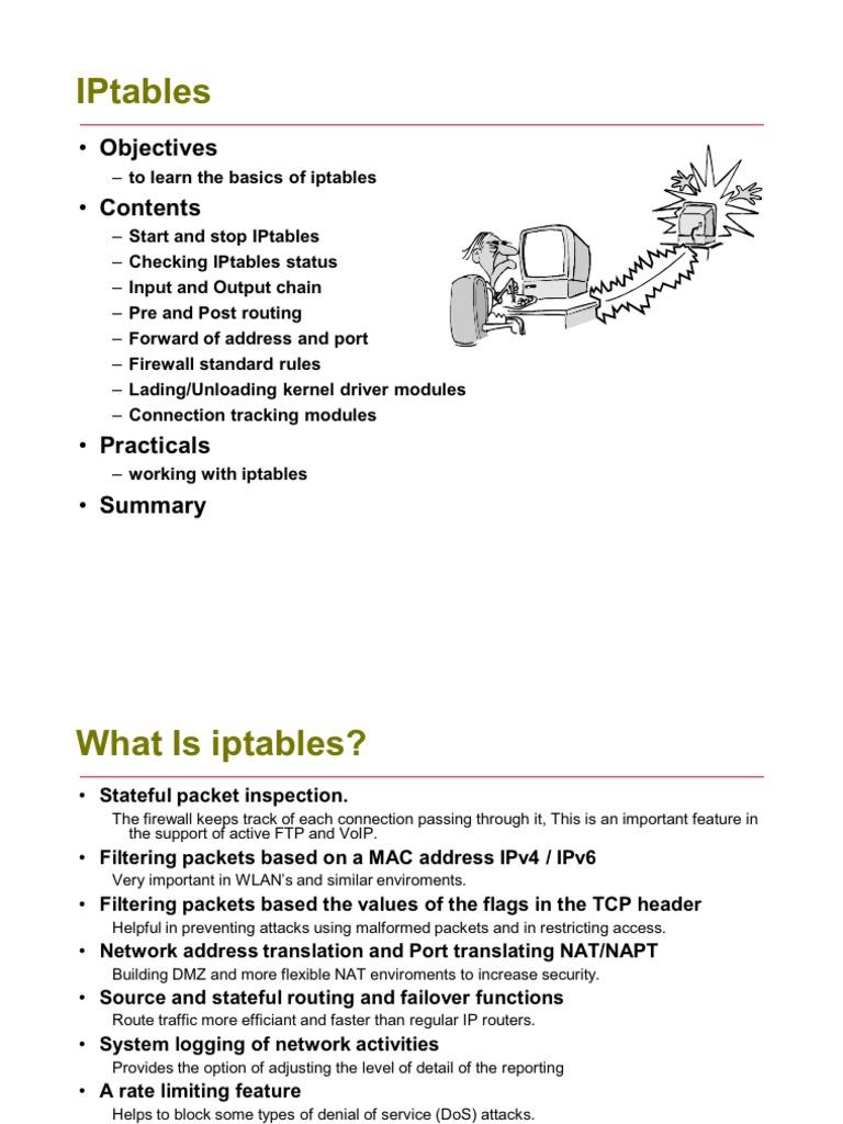 iptables-2 | Firewall (Computing) | Transmission Control