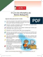 Livro de informática do Menino Maluquinho lição 1