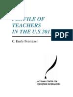 PROFILE OF TEACHERS IN THE U.S. 2011