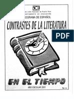 Contraste de la literatura a través del Tiempo