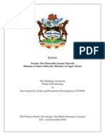 Minister Joanne Massiah's Remarks - 31st COTED