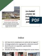 FranciscoSabatini_La Ciudad- Motor de Inclusion o Trampa de Pobreza