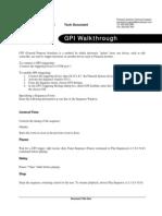 GPI Walkthrough