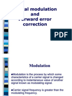 Presentation on Digital modulation and Forward error correction