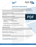 Win Shuttle Transaction Required SAP Authorizations