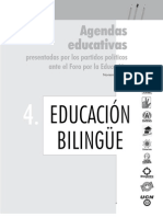 Agenda Educativa Educacion Bilingue