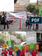 Protesta de trabajadores CORPOELEC por su Contrato Colectivo