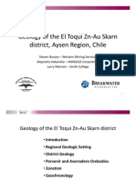 Geology of the Etoqui Zn Au Skarn District