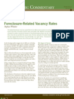 Foreclosure-related vacancy rates