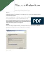 Install a DNS Server in Windows Server 2008