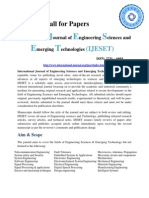 Call for Papers IJESET
