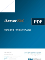 Managing Templates in iServer