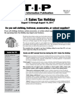 2011 Sales Tax Holiday For Back To School - Florida