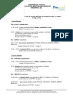 PROGRAMAÇÃO RECEPÇÃO AOS ACADÊMICOS INGRESSANTES DIAMANTINA 2
