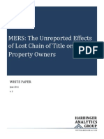 MERS, The Unreported Effects of Lost Chain of Title on Real Property Owners and Their Neighbors