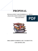 Proposal Pengadaan Buku TPQ