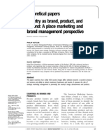 Kotler - Country as Brand, Product and Beyond - A Place Marketing and Brand Management Perspective