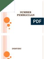 SUMBER PEMBIAYAAN