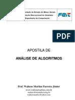 APOSTILA DE ANÁLISE DE ALGORITMOS