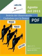 boletín 01 Observatorio Ciudadano por la Democracia (actualizado)