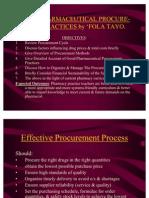 Good Pharmaceutical Procurement Practices