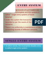 Single Entry System