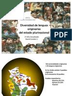 Diversidad de Lengua Originaria en Bolivia