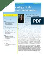 Summer 2011 Newsletter Body Embodiment