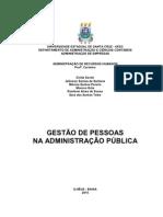 GESTÃO DE PESSOAS NA ADMINISTRAÇÃO PÚBLICA