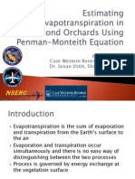 Estimating Evapotranspiration in Almond Orchards Using Penman- Monteith Equation