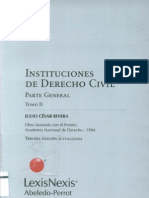 Instituciones de Derecho Civil parte general TOMO II - Julio César Rivera