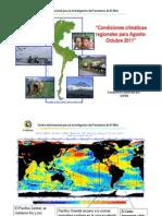 Condiciones Climaticas Regionales Para Agosto-Octubre 2011