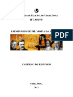 Caderno de Resumos - i Seminario de Filosofia Da Historia