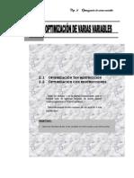 Moisés Villena Muñoz Cap. 2 Optimización de varias variables