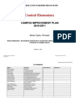 2010-2011 Campus Improvement Plan - Central