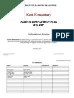 2010-2011 Campus Improvement Plan - Kent