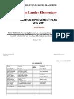 2010-2011 Campus Improvement Plan - Landry