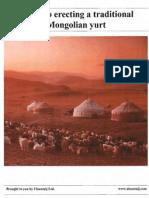 Guide to erecting a traditional mongolian yurt