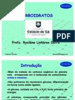 aula_estacio-2008-08-20 - CARBOIDRATOS
