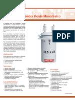 Transformadores monofásicos de Distribución (Catálogo)