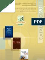 Catálogo - Ediciones PUMA 2011