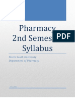 Pharmacy 2nd Semester Syllabus